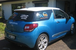Build Your Business Online BYBO car signage